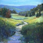 Kimberlee Maselli - Loose & Loose Landscape with Palette Knife and Brush
