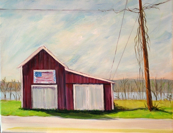On the Road to Hamilton by Cecelia Lyden Acrylic ~ 11 x 14