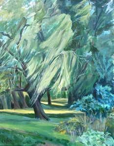 WILLOW WEEP FOR ME by Cecelia Lyden Acrylic ~ 20 x 16