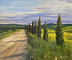 Road to Tuscany by Jay Johnson