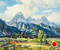 Summer Garden by Conrad Schwiering by  Tierney Fine Art Oil ~ 27 x 32