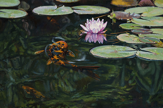 Water Lily Dance - Oil