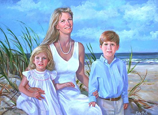 Judy, Mags & Thomas - Oil