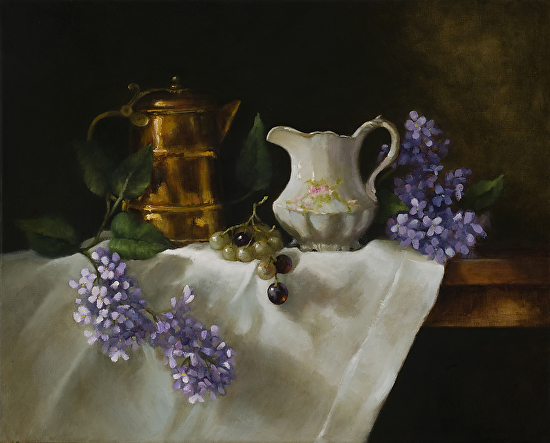 The Gift of Lilacs - Oil