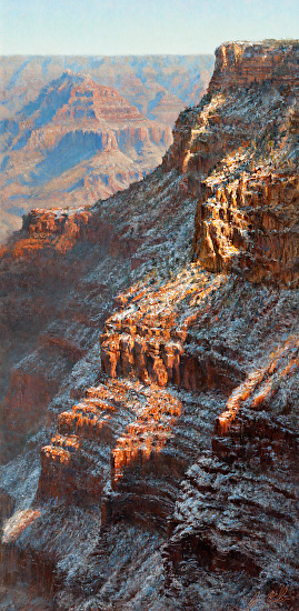 Great Mohave Wall, Winter's Splendor - Oil