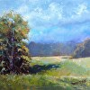 Art Christmas Gift Landscape oil painting country hay fieldWedding gift Summer Peace