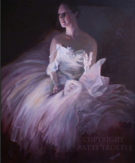 Ballet Dancer Oil Paintings-Portrait of Libby - Oil