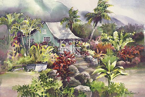 Kanaka Homestead - Watercolor