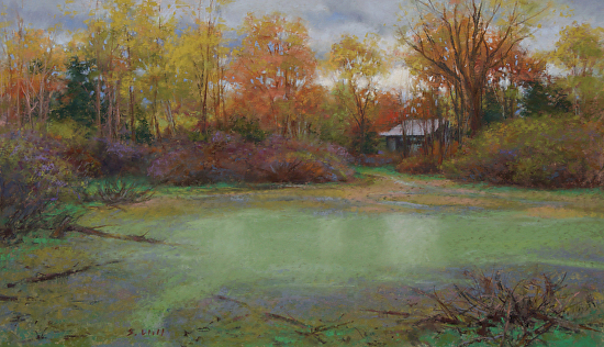Marsh at Predmore Road - Pastel
