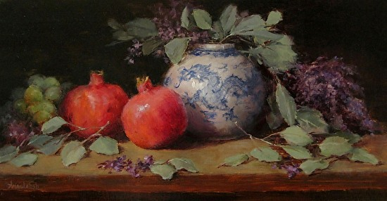 """""""Lilacs and Dragon"""" - Oil"""
