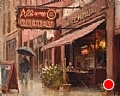 Rainy Day at the Alliance by Scott Tallman Powers Oil ~ 8 x 10