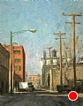 Fulton Meat Market Memories by Scott Tallman Powers Oil ~ 14 x 11