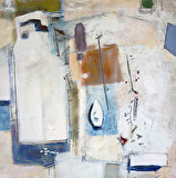 Boatyard by Suzanne DeCuir Oil ~ 24 x 24
