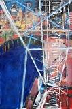 Big Wheel Turning by Suzanne DeCuir Oil ~ 36 x 24
