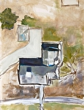The House Next Door by Suzanne DeCuir Oil ~ 24 x 18