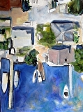 Bird's Eye Blue by Suzanne DeCuir Oil ~ 24 x 18
