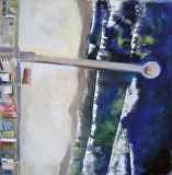 Manhattan Beach Pier by Suzanne DeCuir Oil ~ 24 x 24