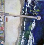 Manhattan Beach Pier by Suzanne DeCuir Oil ~ 24 x 24