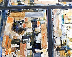 Via Caetani by Suzanne DeCuir Oil ~ 24 x 30
