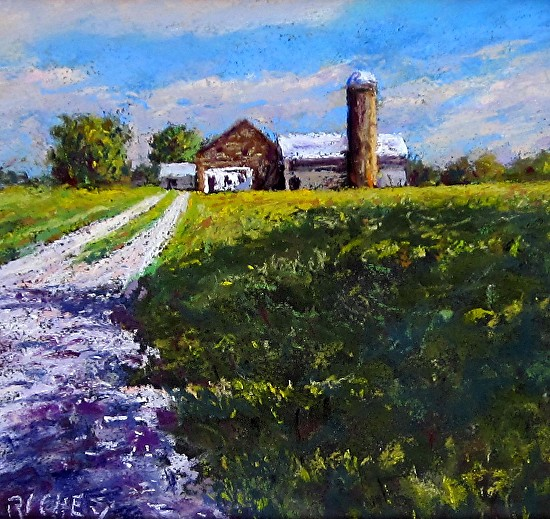 Sand Brook Barn, Hunterdon County - Pastel