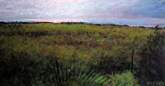 September Sunset along the Delaware Bay - Pastel