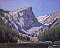 Hallett Peak--Plein-Air by Bruce Peil Oil ~ 8 x 10