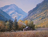 Fall in Ophir Colorado by Bruce Peil Oil ~ 8 x 10