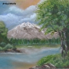 Peaceful Mountain Lake  landscape painting