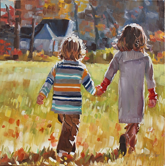 Allison's kids - Oil