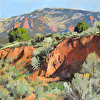 Near Shurtz Canyon, 2014, oil, 12x12, Collection of the Artist, Plein Air