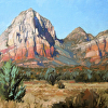 Holt- Sedona- The View From Moonlight Drive- v2- 12x16- oil- 2014- studio