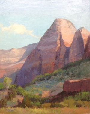 Zion Morning 30x24 oil - Oil Paintings