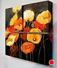 Poppy Profusion, 05508 by Carol Nelson Oil ~ 18 x 18