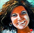 100 Portraits in 100 Days - Suzanne, 1/100 by Carol Nelson Oil ~ 6 x 6