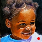 100 Portraits in 100 Days - Maddie, 62/100 by Carol Nelson Oil ~ 6 x 6