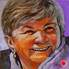 100 Portraits in 100 Days - Sharron, 67/100 by Carol Nelson Oil ~ 6 x 6