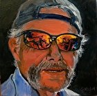 100 Portraits in 100 Days - Ed, 68/100 by Carol Nelson Oil ~ 6 x 6