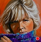 100 Portraits in 100 Days - Catherine, 74/100 by Carol Nelson Oil ~ 6 x 6