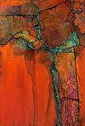 """ANASAZI"" by Carol Nelson mixed media ~ 36 x 24"