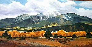 Mount Princeton by Carol Nelson Oil ~ 24 x 48
