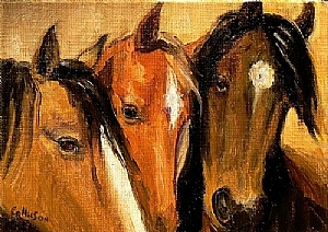 Treat Time by Carol Nelson Oil ~ 5 x 7