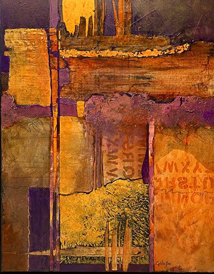 Headlines, 12016 by Carol Nelson mixed media ~ 30 x 24