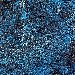 Blue by Linda Benton McCloskey Encaustic ~ 16 x 16