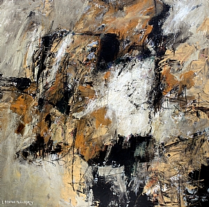 CONVERGENCE by Linda Benton McCloskey Mixed Media ~ 30 x 30