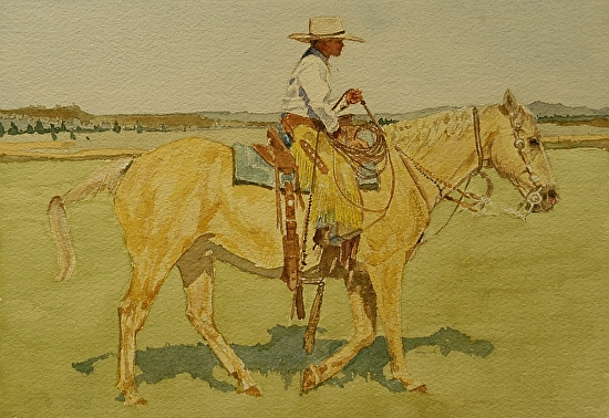 Cinch Anderson & Larry - Watercolor