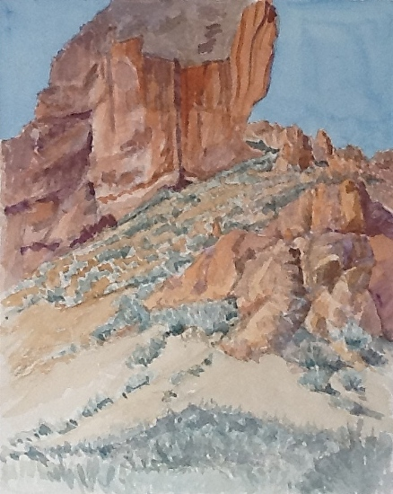 """""""Leslie Gulch 3"""" - Watercolor"""