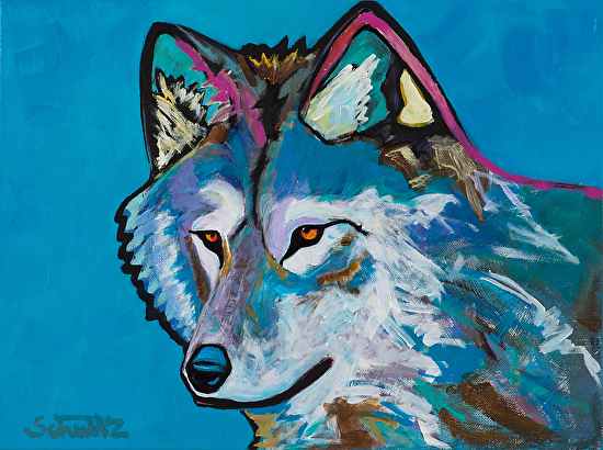 Gray Wolf - Acrylic
