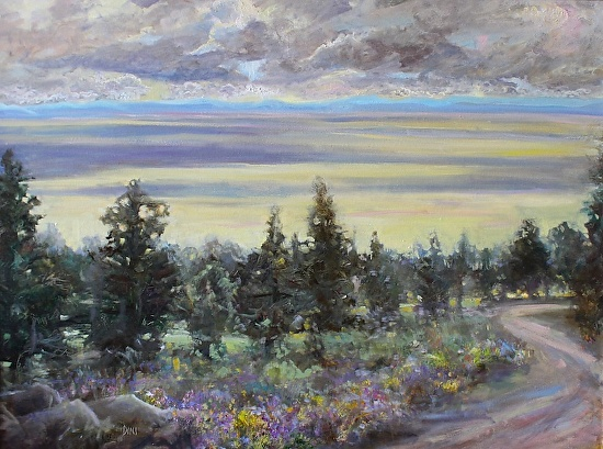 View Across San Luis Valley - Oil