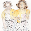 Polka Dot Dresses - NOTECARD
