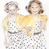 Polka Dot Dresses - NOTECARD